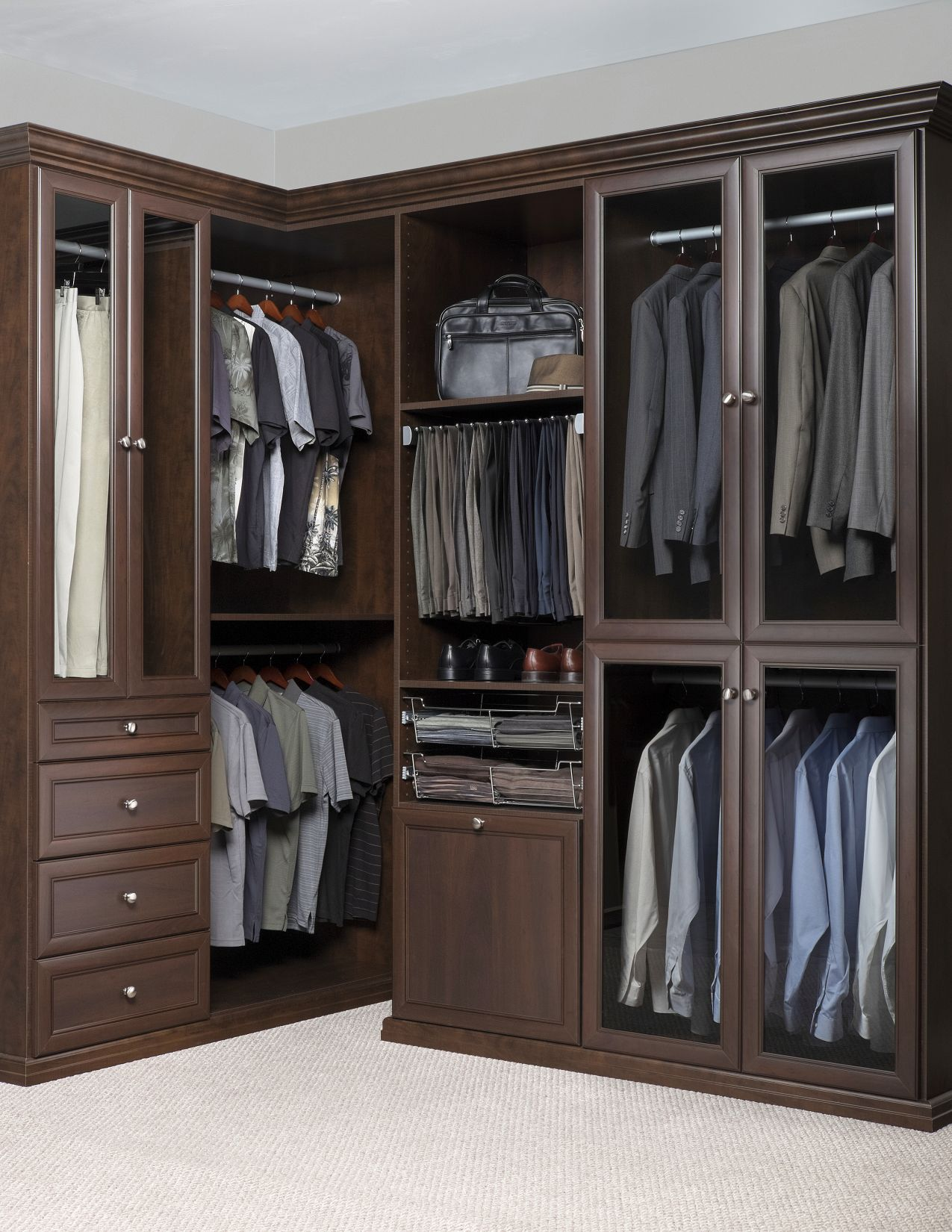 Images Of Walk In Closets custom walk-in closet designs | austin closet solutions