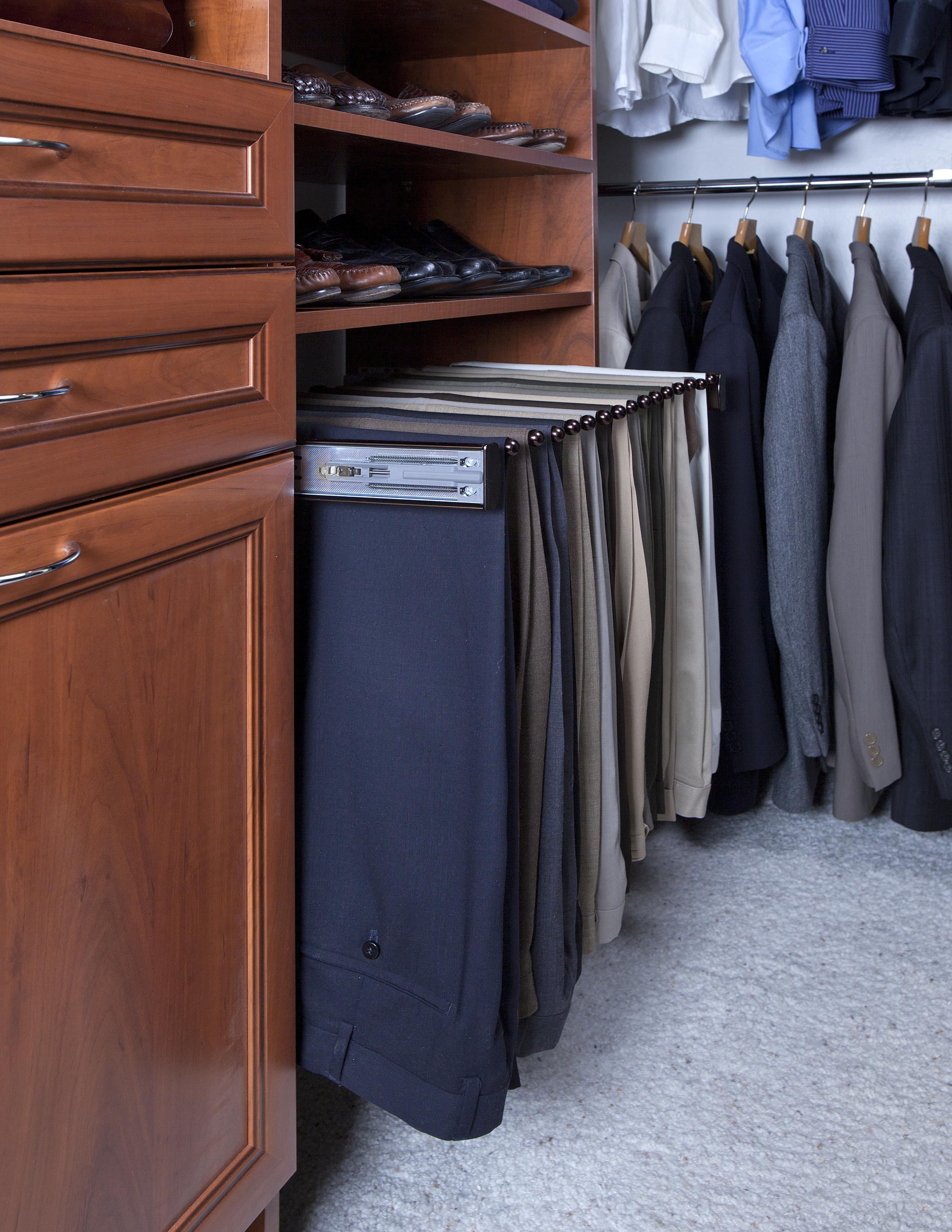 Superieur Pants Rack In Warm Cognac Premier Closet