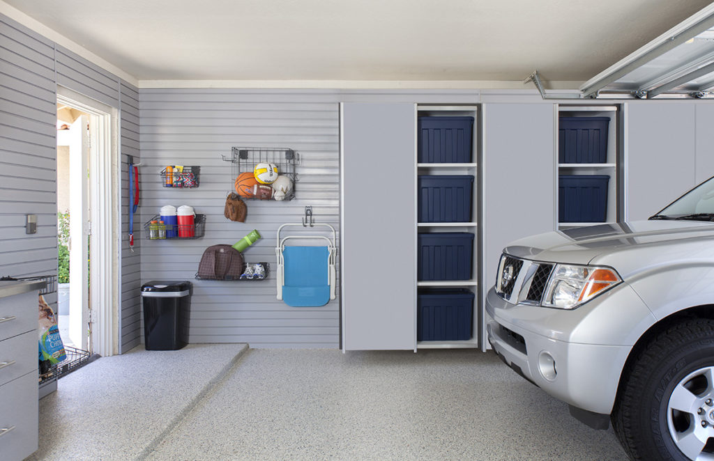 Custom garage cabinets installed in Austin, TX home